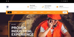CMS website development sample